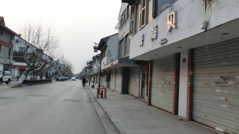 Naujieji metai Kinijoje: tuščia gatvė