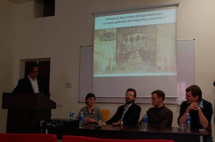(iš kairės) I. Pennock, V. Silius, S. Grigorjev, J. Baradinskas