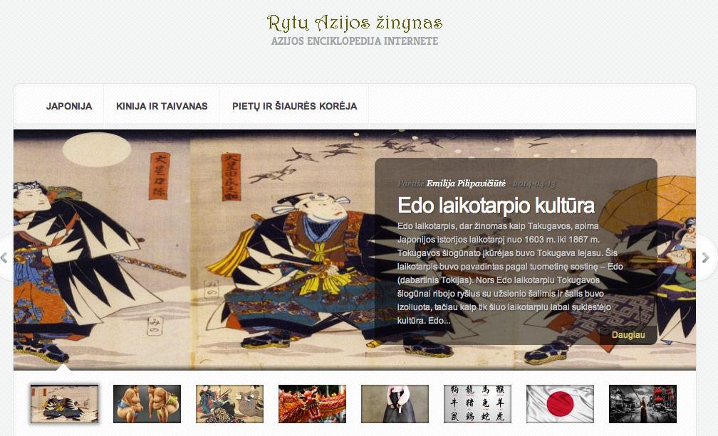 Rytų Azijos žinynas: Azijos enciklopedija internete