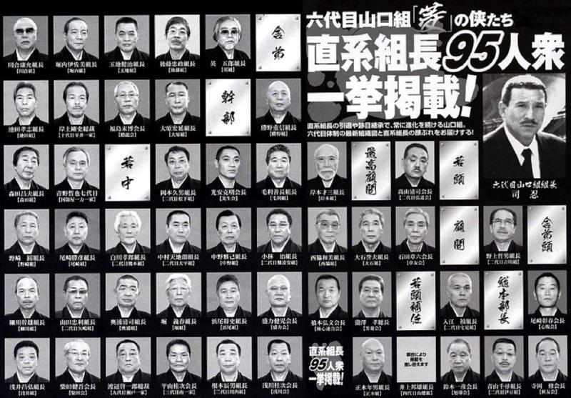 Yamaguchi-gumi grupuotės vadovybė