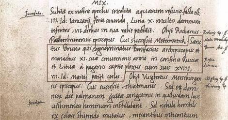 Lietuvos-vardas-1009-metais リトアニアの歴史
