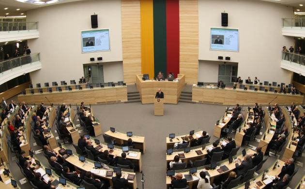 Vilniuje, Lietuvos Respublikos Seime vyko Seimo pirmininko rinkimai.