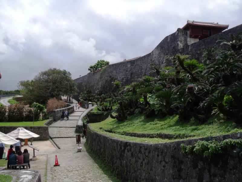 Buvusios Riūkiu karalių rezidencijos ir priestatų sienos