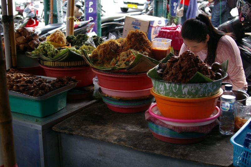 Indonesian food stall