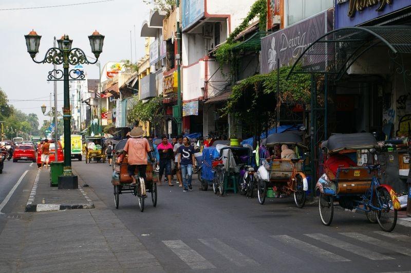 Yogyakarta, famous Malioboro street