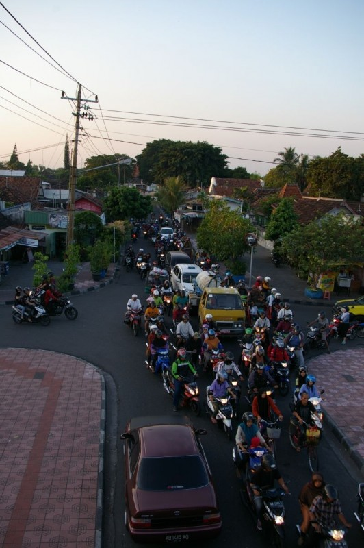 Usual traffic in Yogyakarta