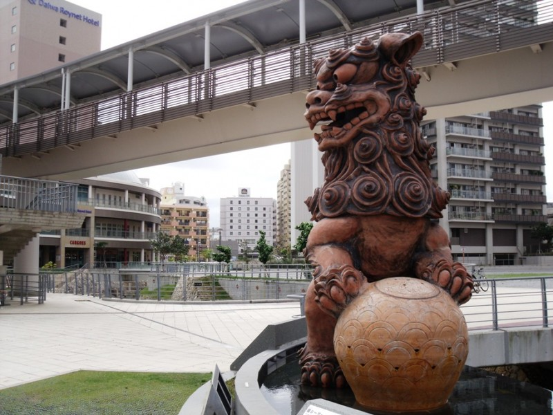 Shisa, Okinawan mythological creature, watching over Okinawa