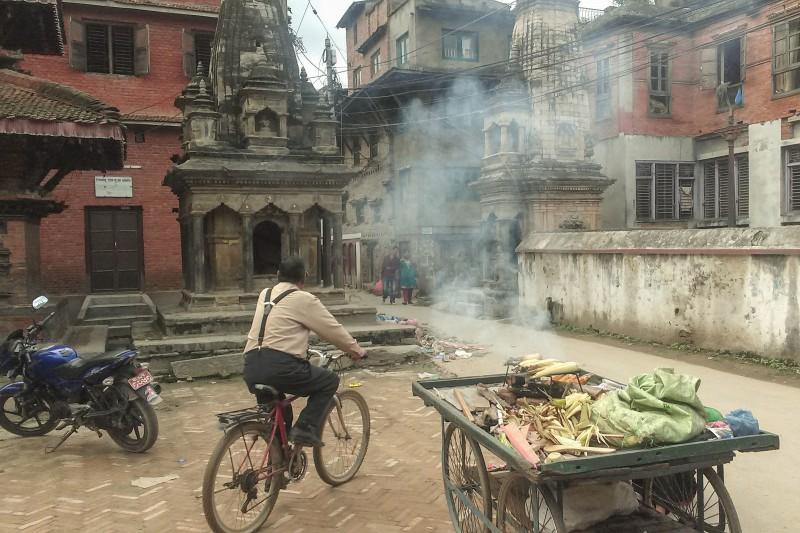 Street food-stall in Kathmandu's oldtown.