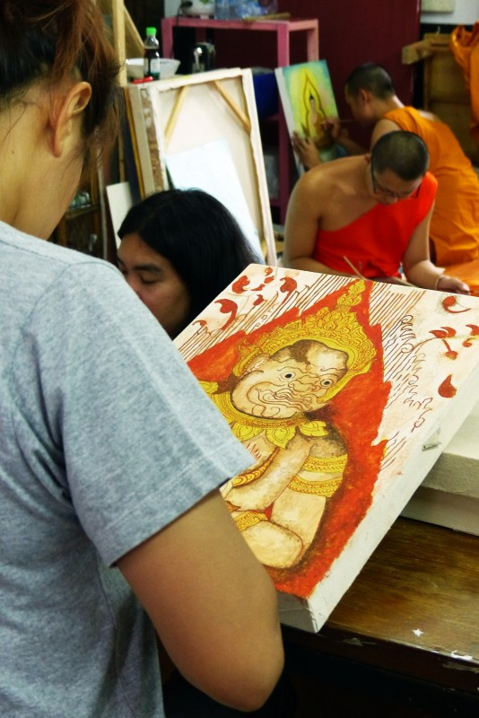 Drawing Class at Wat Ched Yod (Seven _ Spires Temple)