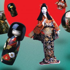 """Japonijos fondo kilnojamoji paroda """"Japonijos lėlės"""""""