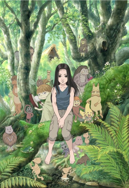 """Kadras iš animacinio filmo """"Mijori ir šventoji giria"""""""