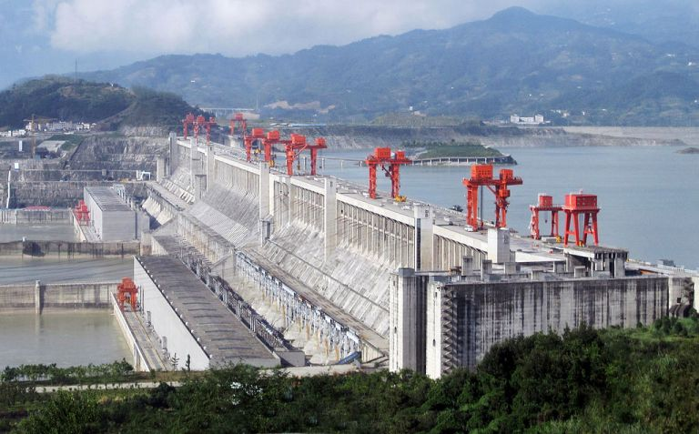 Three Gorges Dam, a hydroelectric dam in Hubei Province, China