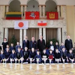 Kaune pirmą kartą vyko Ch. Sugiharos vaikų kendo turnyras
