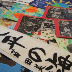 The exhibition of student works from Okinawa in Birštonas