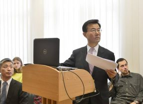 South Korea's Ambassador Choi Sung-Joo lecture in Lithuania