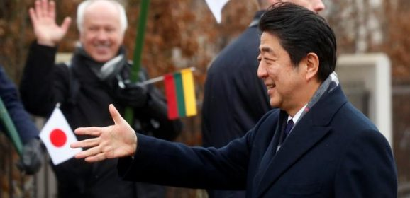 Japanese Prime Minister Shinzo Abe's visit to Lithuania