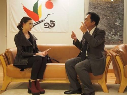 Interviu su Japonijos ambasadoriumi p.Shigeda Lietuvos ir Japonijos diplomatinių santykių 25-ojo jubiliejaus proga (2016)